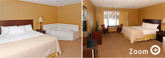 Munising Michigan Motel - Queen with Hot Tub  Motel Room